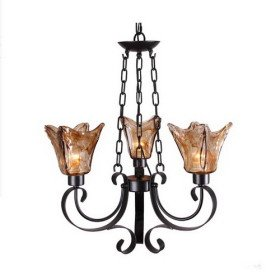 Artistic Chandelier with 3 Lights in Antique Style