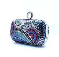 Вечерняя сумка New Rings diamond Evening bags diamond clutch shinny paillette crystals Ladies party beading handbags Gorgeous Bridal Bag