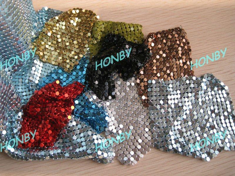 Tissu de paillettes de couleur 3mm métalliques utilisés dans le