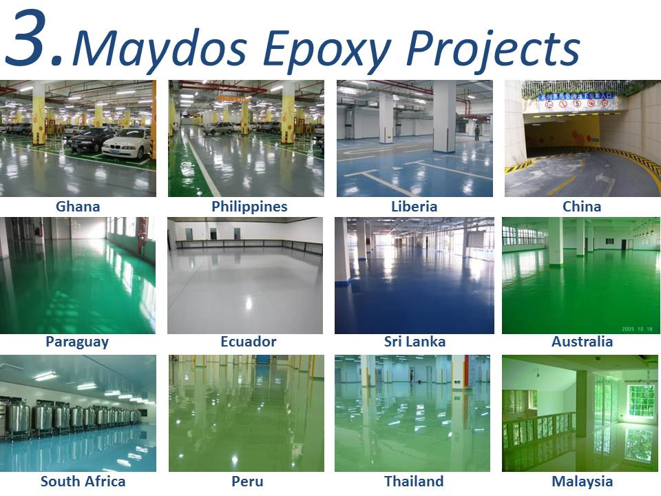 Maydos Two-components Liquid Resin Concrete Flooring Coating