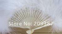 dance Feather Fans ,Wedding props fan ( white )