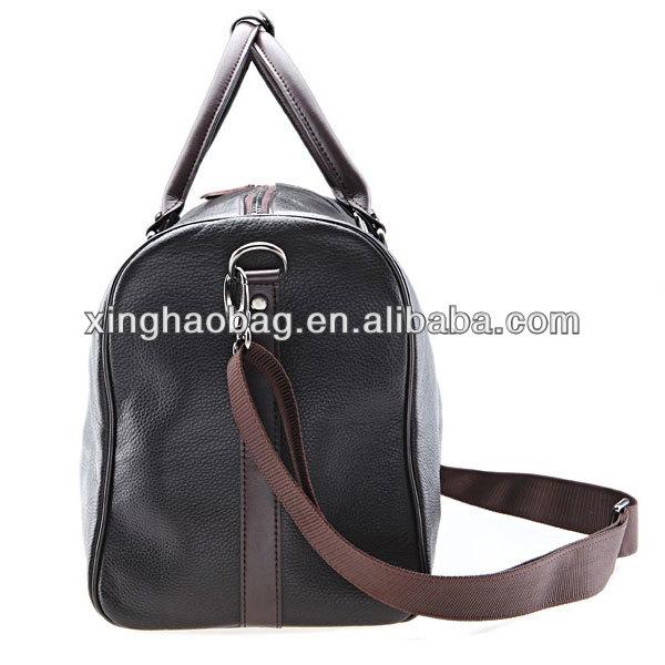 Extra large genuine leather travel shoulder standard size men bag