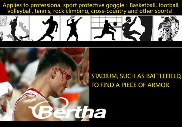 lunettes de sport 2014 bertha sportif de protéger les yeux lunettes de basket en plein air