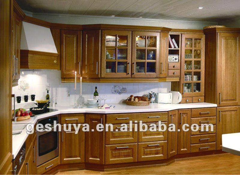 Lb dd1020 antique style bois meubles de cuisine armoire de Model element de cuisine photos
