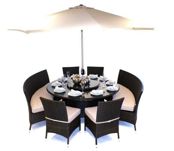mobiliario de jardim em rattan sintetico:12 Seater Rattan Conjunto de Mesa e Banco-Cadeiras de jardim-ID do