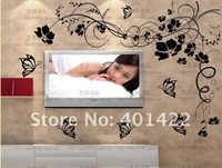 Стикеры для стен On sale width200*high130cm 1 set stylish vine&butterflies wall sticker