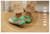 Мужские мокасины Summer Fashion NEW Mens Canvas Casual Lace Slip On Loafer Shoes Moccasins Driving Shoes- hk post