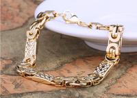 Браслет из нержавеющей стали MEN JEWELRY & 18k Gold Plated Bracelets & Bangles