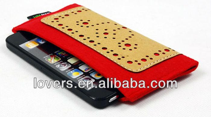 사용자 정의 가방 느낌이 휴대 전화 아이폰 5