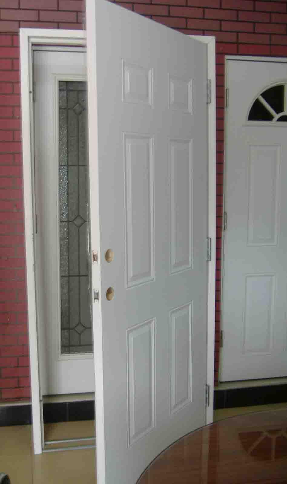 Steel Wooden Door : Door frame white wood