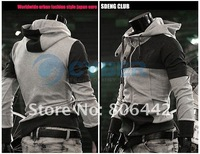 Мужская толстовка Korean mixed colors Men Hoodie coat Slim Sexy Zip Designed big pockets Jacket