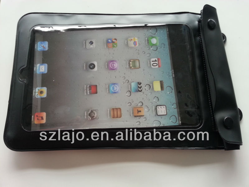 Mobile phone durable lanyard PVC waterproof bag for ipad, for iphone, for samsung waterproof bag with plastic clip
