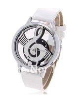 модная Bolun точками час знаков кожа кварцевые наручные часы с музыкальным символом узорные для женщин b636 черном