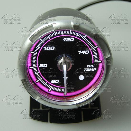 60MM Pink Blue LED Backlight Sensor + Stepping Motor Defi ADVANCE C2 Oil Temperature Temp Gauge Meter DSC_0346