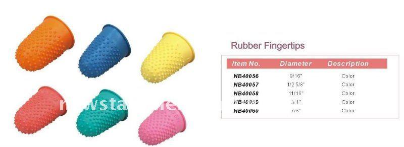 color rubber fingertips