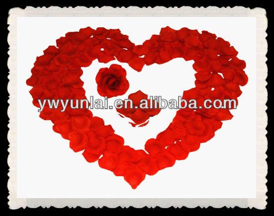 silk rose petal, wedding decoration use