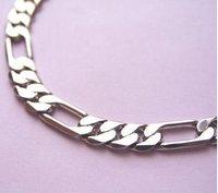 Браслет из серебра 925 sterling silver 8mm Men's Figaro bracelet