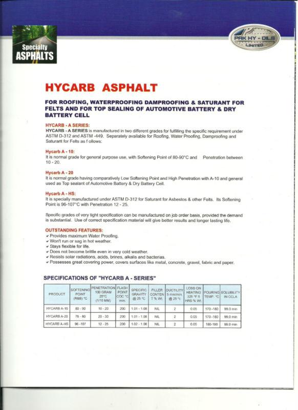 Hycarb Asphalt