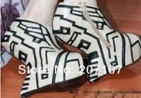 Туфли на высоком каблуке brand no heel heel less shoes leather ankle wedge boots for women