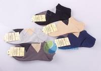 Новый дизайн [tradetown] 1 3 5 пар лодыжки четверть экипажа Мужская хлопок parttern носки низкие вырезать 5 цветов большой