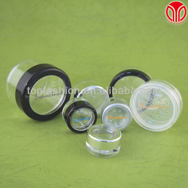 Cosmetic plastic loose powder packaging container