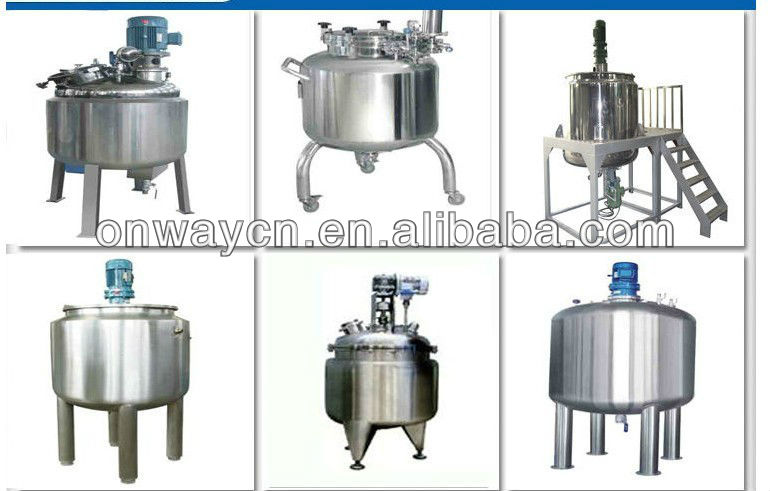PL mixing tank with agitator for jam