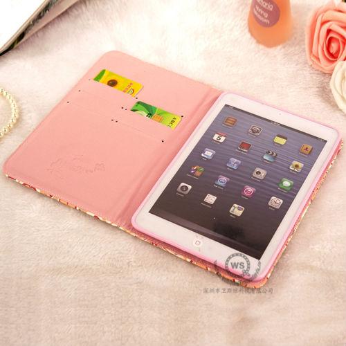 For ipad mini 2 smart case leather cover