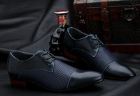 Мужские оксфорды New Fashion Casual Mens Pointed-Toe Dot Lace-up Leather oxfords Shoes dropship