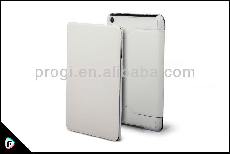 alta qualidade flip caso de couro para ipad caso de rosto para o ipad caso mini