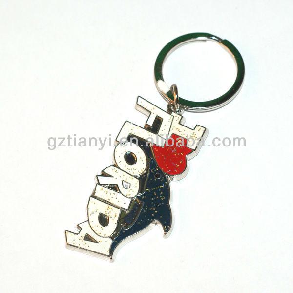 2014 Promotional gifts items alphabet keychain,custom metal key chain,America souvenir keychain