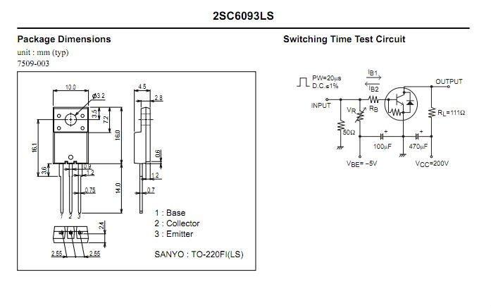 Transistor 2SC6093LS C6093