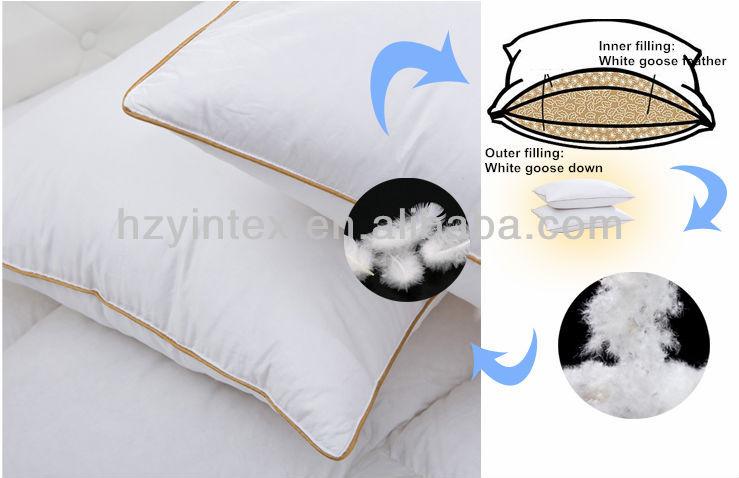 /Queen White Goose Down Pillow SOFT Light Pillow