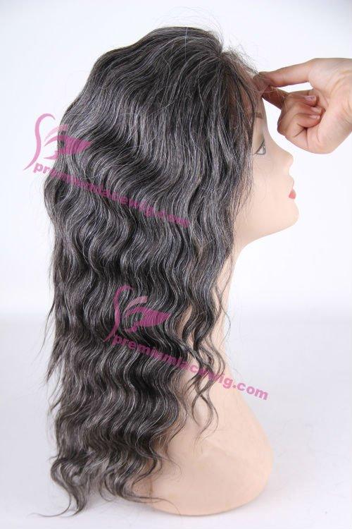 grey deep wave curly hair wig