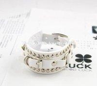 Fashion men/women/girl bangle black rivet shiny sexy belt buckle vintage bracelet  Free Shipping  Min.order is $15 (mix order)