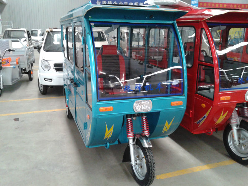 5-6 passengers seats three wheeler tricycle