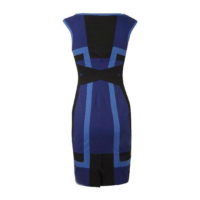 Цвет блока коктейльное платье синий и