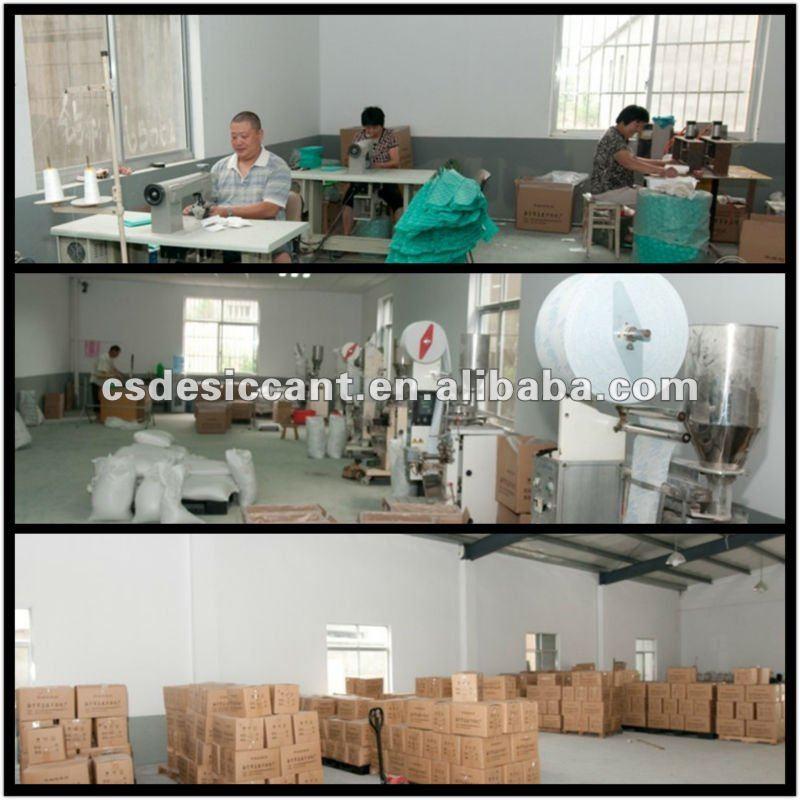 active clay moisture absorber bag/desiccant sachets 1-1000g