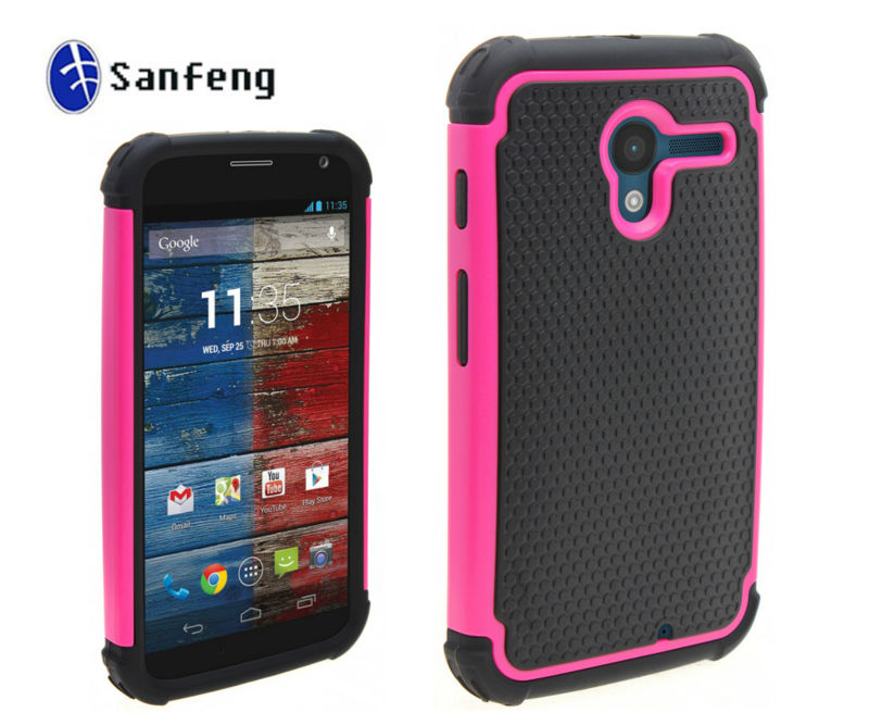 Durable Hard Hybrid Shockproof Case For Motorola X Phone