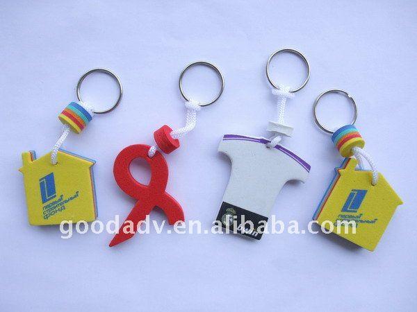 5mm thickness eva no minimum custom logo keychains