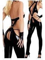 Женский эротический костюм Dancer costumes faux leather patent leather the fun piece pants Diba nightclub dance pole dancing clothing