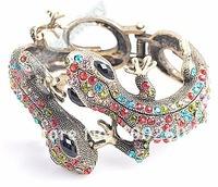 Ювелирное изделие Rhinestone crystal lizard Cuff Bangle Bracelet Fashion jewelry bracelet#7007