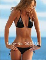 Free shipping Fashion Bikini swimsuit Black bikini sexy  swimwear chest