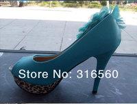 Туфли на высоком каблуке Best selling! New fashion high heels woman pu leather shoes leopard pumps 1pair