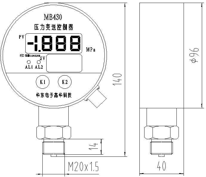 mb430 الضغط تحكم
