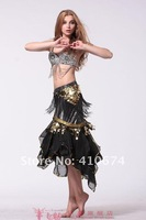 Женская одежда China post belly dance dancing bra tops tees wear costume clothing crystal 5 flower