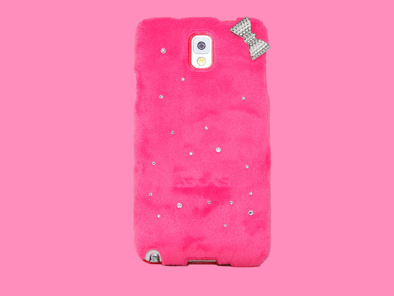 Creative design flannel phone case for Samsung galaxy Note 3 accept small mix order