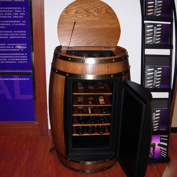 Innovant r frig r cave vin en bois vin meubles tonneau de vin refroidisse - Temperature ideale cave a vin electrique ...