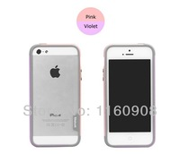 1PCS ZENUS Walnutt For iPhone 5 Dual-Layer[TRIO]Slim Protective Bumper Case For iphone 4 4s 5 5s Free Shipping
