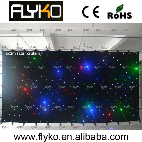 led star curtain cloth,fabric portable wedding backdrop