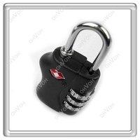 K5Y 3 Dial TSA Combination Padlock Luggage Suitcase Bag Travel Security Lock New